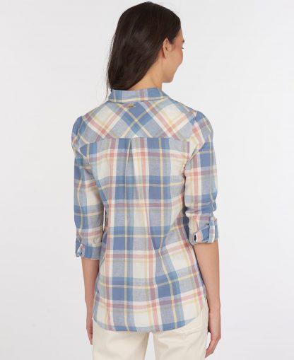 LSH1396PI34 Barbour Seaglow Shirt Rosedawn Check