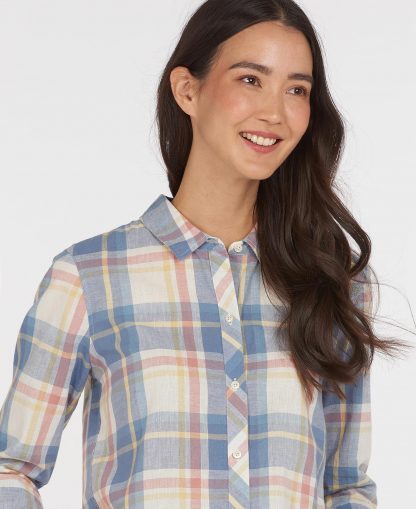 LSH1396PI34 Barbour Seaglow Shirt Rosedawn Check