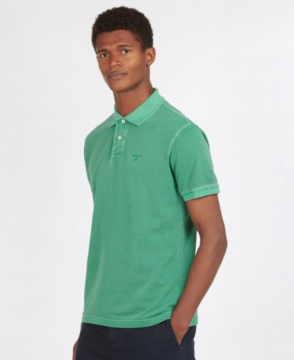 MML1127GN31 Barbour Washed Sports Polo Turf