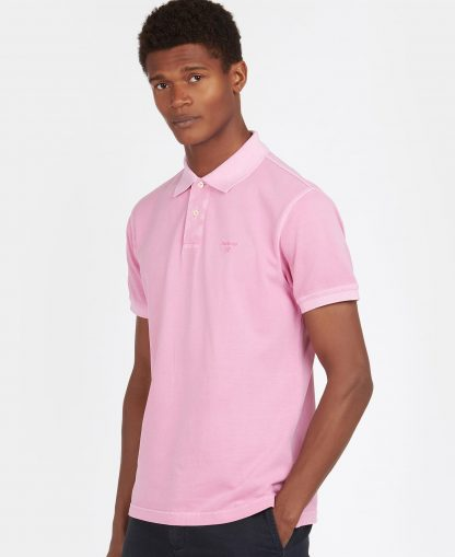 MML1127PI31 Barbour Washed Sports Polo Mauve