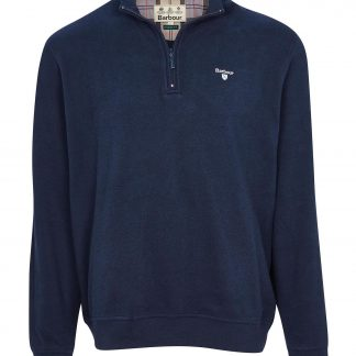 MOL0299NY91 Barbour Bankside Half Zip Navy