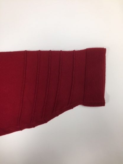 Marcona Crew Neck Sleeve Detail Red