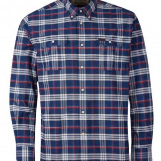 msh4885ny91 Barbour Barton Coolmax Shirt Navy