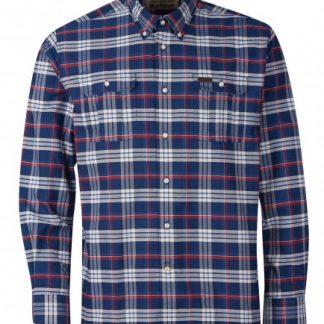 msh4885ny91 Barbour Barton Coolmax Shirt Navy