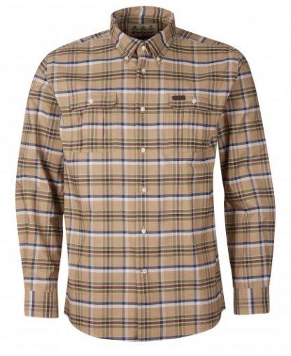 msh4885st51 Barbour Barton Coolmax Shirt Stone
