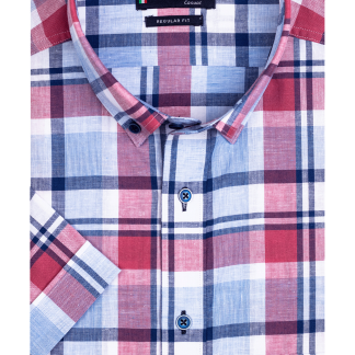 116305_30 Giordano Check Shirt Red