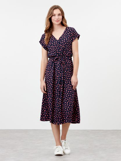 212804_NAVYSTRAW Joules Yasmine Dress Navy