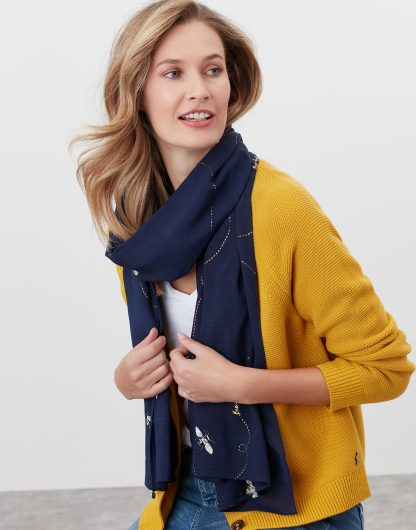 213661_NAVYBEE Joules Conway Scarf Navy Bee