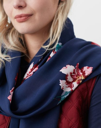 213661_NAVYPEON Joules Conway Scarf Navy Peony