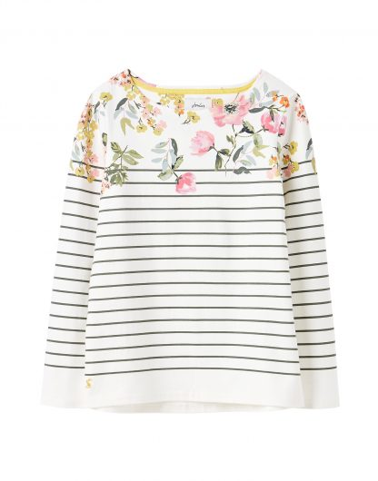 213748_CRMGNSTPFL Joules Harbour Print Cream