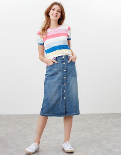 Joules Francesca Denim Skirt