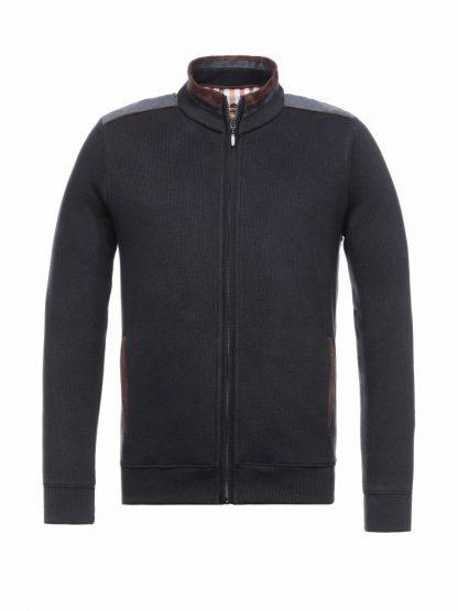24020991M-490 Montechiaro Cotton Zip Cardigan