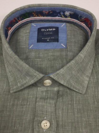 Olymp Linen Shirt Green