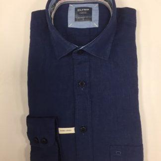 Olymp Linen Shirt Navy