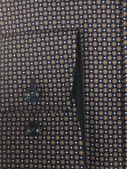 Olymp Smart Print Shirt Tan