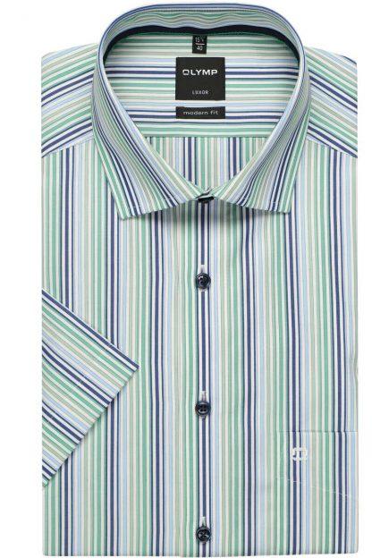 1015-72-45 Olymp Comfort Fit Short Sleeve Green