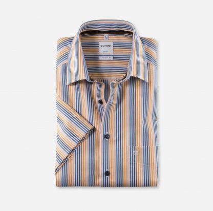 10157291 Olymp Short Sleeve Stripe Orange