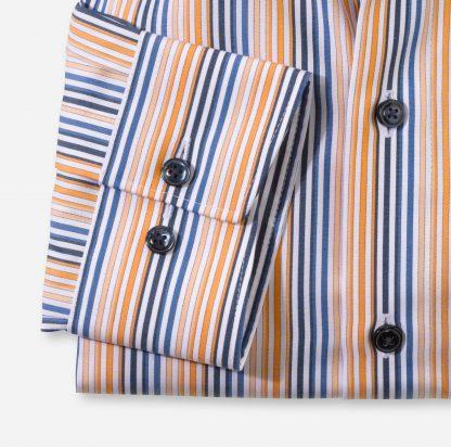 10157491 Olymp Comfort Fit Stripe Orange