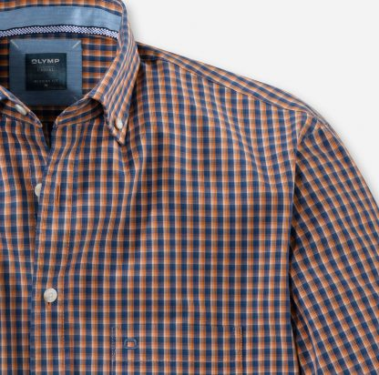 41067491 Olymp Casual Shirt Orange