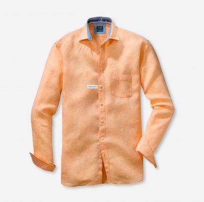 41187480 Olymp Linen Shirt Peach