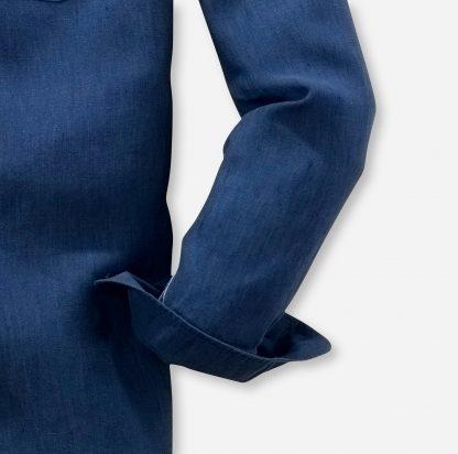 41187496 Olymp Linen Shirt Navy