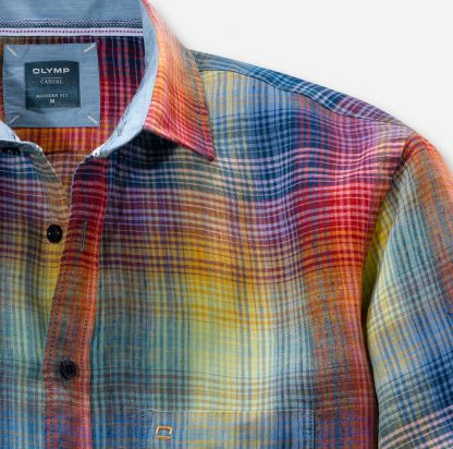 41227446 Olymp Colourful Linen Shirt