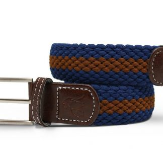 Blue-Brown Woven Stretch Belt