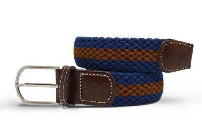 Blue-Brown Woven Stretch Belt