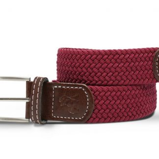 Burgundy Woven Stretch Belt