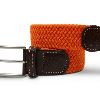 Orange Woven Stetch Belt