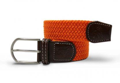 Orange Woven Stetch Belt