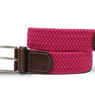 Rich Pink Woven Stretch Belt