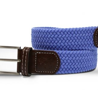 Sky Blue Woven Stretch Belt