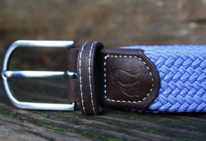Sky Blue Woven Stretch Belt