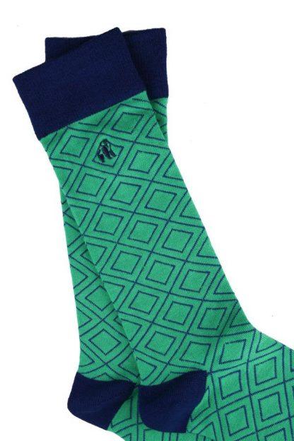 socks-green-diamond-bamboo-socks