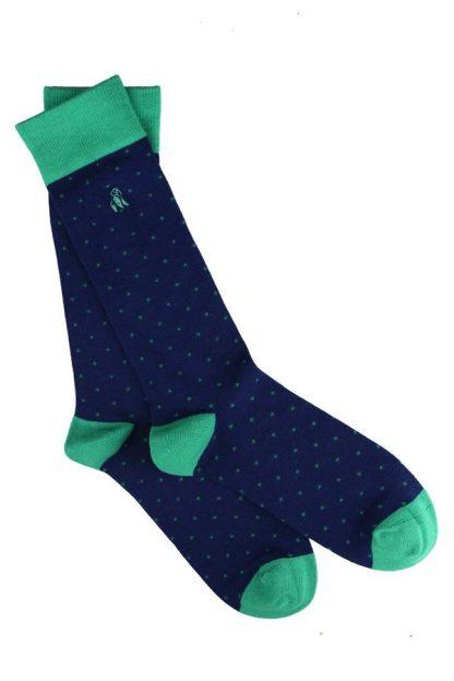 socks-spotted-green-bamboo-socks