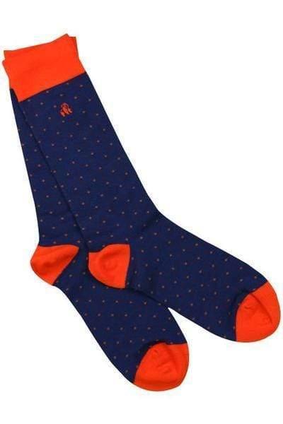 socks-spotted-orange-bamboo-socks