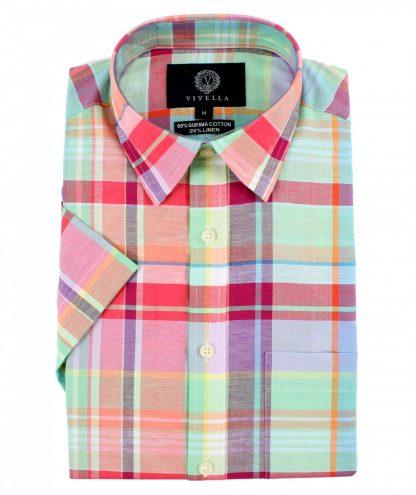 vy0524h-648 Viyella Cotton-Linen Shirt