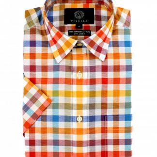 vy0533h-655 Viyella Cotton-Linen Shirt