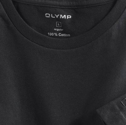 07001268 Olymp T-Shirt Twin Pack Black