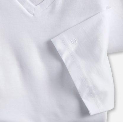 07011200 Olymp Vee Neck T-Shirts White
