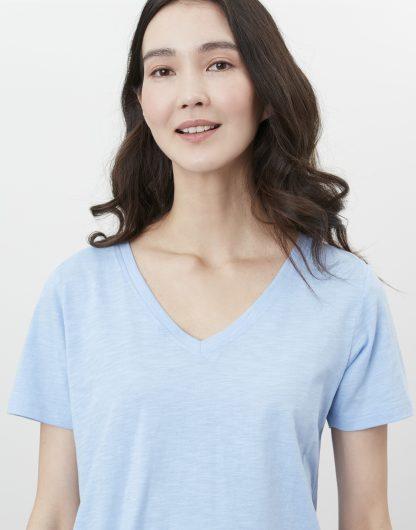 213652_HAZBLUE Joules V-Neck T-Shirt Sky