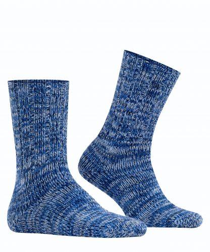 12430_6120 Falke Brooklyn Chunky Cotton Socks Marine