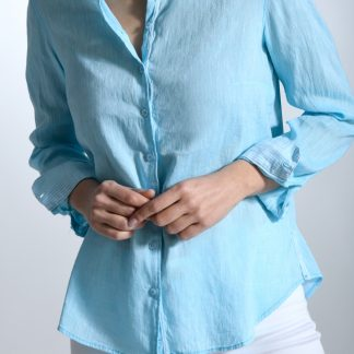Camisa Alameda Turquesa Bariloche Linen/Cotton Shirt Turquoise