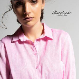 Bariloche Linen/Cotton Shirt Pink