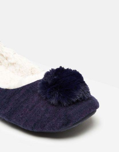 Joules Pombury Ballet Slippers Navy