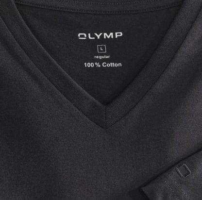 07011268 Olymp V-Neck T-Shirts Black