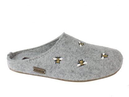 Haflinger Slippers Everest Bees Light Grey