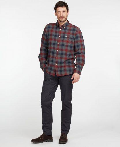 MSH4985GY12 Barbour Westoe Reg Fit Shirt Grey