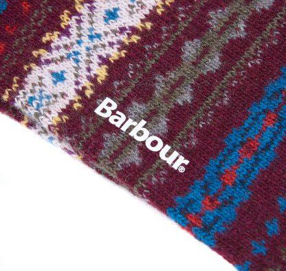 MSO0062BU17 Barbour Boyd Socks Burgundy